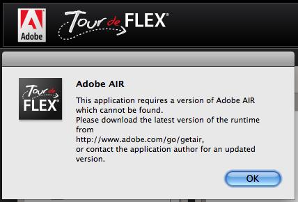 Tour de Flex error message